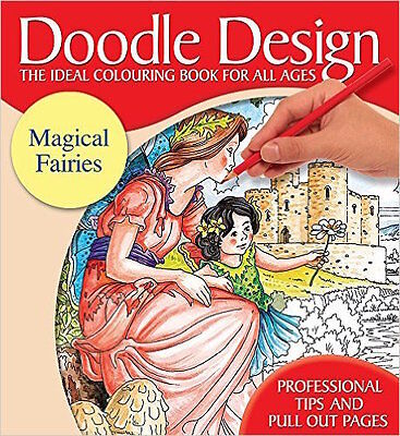 Doodle Design __ Magical Fairies __brand New Adult Colouring Book__ Freepost Uk • 3.79£