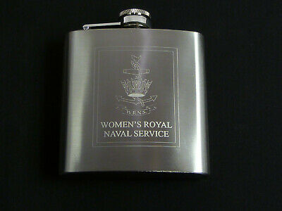 WRNS Womens Royal Navy Service Version 6oz Engraved Hip Flask • 8.99£