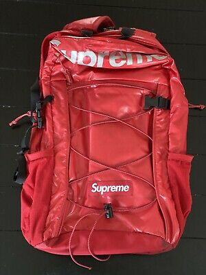 $ CDN323.69 • Buy Supreme FW17 Red Glossy Backpack