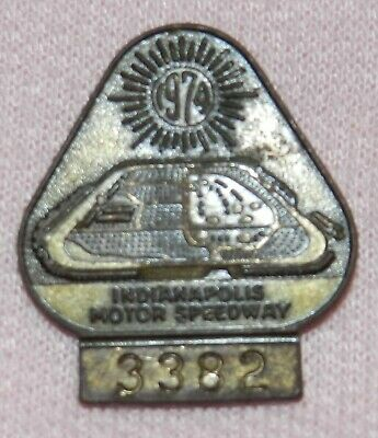 $30 • Buy 1974 Indy 500 Pit Badge Credential Bronze #3382
