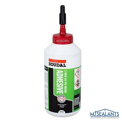 Soudal 5 Minute D4 Wood Adhesive Water Resistant Fast Drying 750g • 10.99£