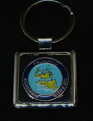 Falklands 1982 Veteran Medal Deluxe Keyring With Silver Plated Badge UK Made. • 4.99£