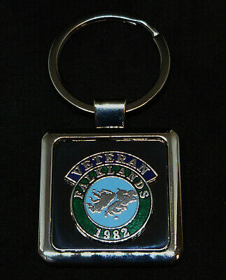 Falklands 1982 Veteran Scroll Deluxe Keyring With Silver Plated Badge UK Made. • 4.99£