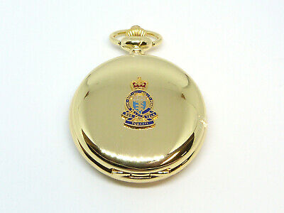 £14.99 • Buy RAOC Royal Army Ordnance Corps Gold Plated Deluxe Pocket Watch & Keeper Chain