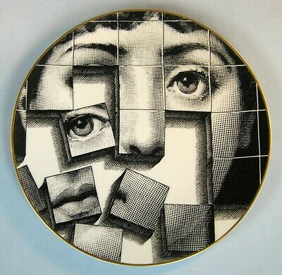$295 • Buy Fornasetti By Rosenthal Woman's Puzzle Face Plate Temi E Veriazioni Motiv 33