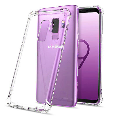 $ CDN6.99 • Buy Clear TPU Gel Case Cover +Tempered Glass For Samsung Galaxy S9 S8 Plus Note 8