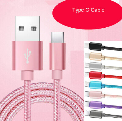 AU6.50 • Buy Samsung Galaxy Note S9 S8 S10 S20 S21 Plus Braided USB Data Charger Cable Type-C