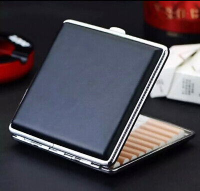 New Cigarette Case Leather Box Holder Cases For Cigarettes Boxes Mens Women Uk • 12£
