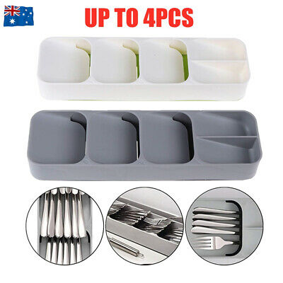 AU19.90 • Buy Cutlery Organizer Spoon Tray Insert Utensil Divider Kitchen Drawer Compact Box