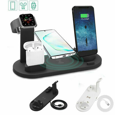 AU24.96 • Buy 4in1 Qi Wireless Charger Fast Charging Dock Stand For Airpods Apple Watch IPhone