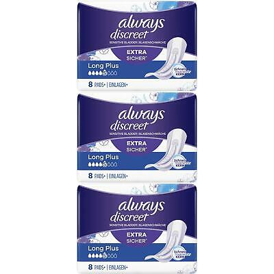 £10.45 • Buy Always Discreet Sensitive Bladder Incontinence Pads Long Plus Pad Thin - 24 Pack