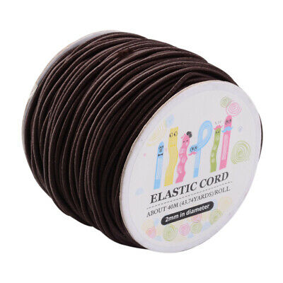 $ CDN15.68 • Buy 40m/roll CoconutBrown Nylon Elastic Cord Round Sewing Craft Stretch String 2mm