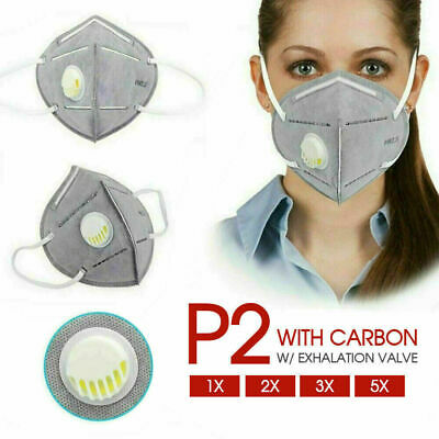 AU29.99 • Buy 1/2/3/5x P2/KN95 PM2.5 Anti Pollution Respirator Mask W/ Exhalation Valve Face