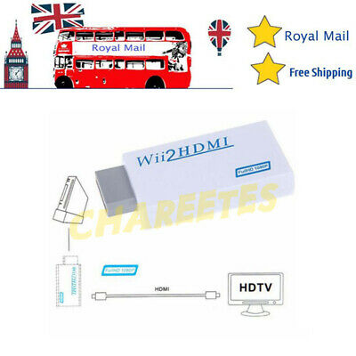 Wii Input To HDMI 1080P HD Audio Output Cable 3.5mm Jack Converter Adapter • 6.85£