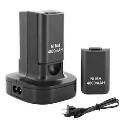 Dual Battery Charger Charging Station Dock + 2x Battery For Xbox 360 Controller • 12.55£