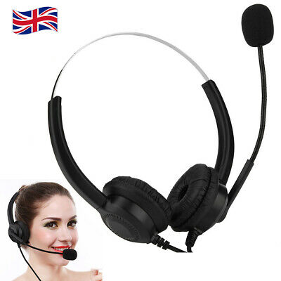 USB Wired Call Center Headset Noise Cancelling Headphone With Microphone MIC UK • 13.13£