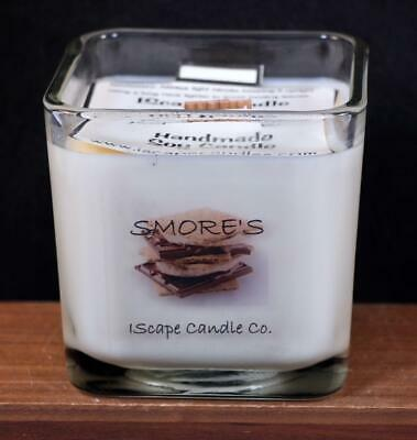 $16.72 • Buy IScape Scented *Smore's* 11 Oz. Square Jar Wood Wick Soy Candle