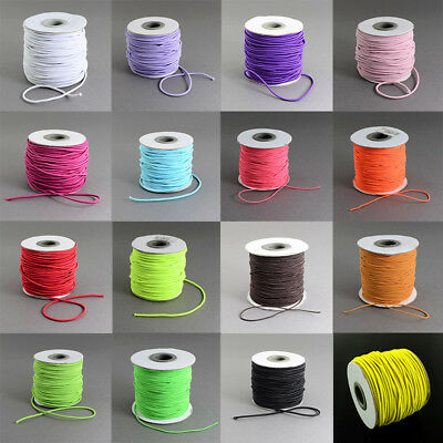 $ CDN12.90 • Buy 1 Roll 2mm Nylon Outside And Rubber Inside Round Elastic Cord 40m/roll Crafts