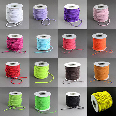 $ CDN13.60 • Buy 1 Roll 2mm Nylon Outside And Rubber Inside Round Elastic Cord 40m/roll Crafts