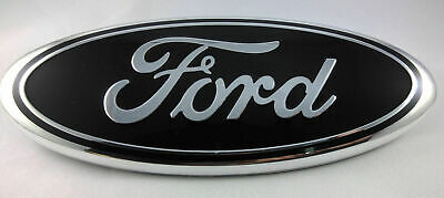 $24.95 • Buy BLACK & CHROME 2005-2014 Ford F150 FRONT GRILLE/ TAILGATE 9 Inch Oval Emblem 1PC
