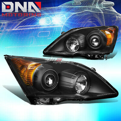 $171.88 • Buy For 07-11 Honda Crv Black Housing Amber Side Projector Headlight Oe Replacement