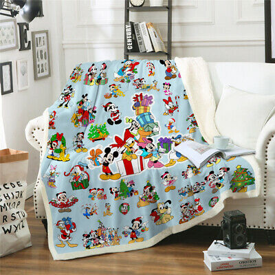 £19.99 • Buy 3D Mickey Mouse Blanket Donald Duck Fleece Warm Soft Sofa Bed Chair Throw New