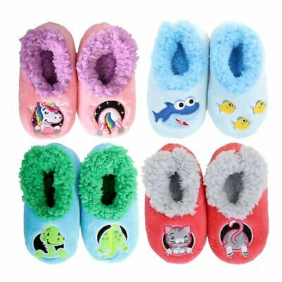 AU17.95 • Buy SLUMBIES - PATCH PALS - Kids Toddler Soft Slippers Socks Non-Slip Grip **NEW**