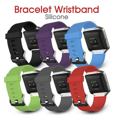 AU7.16 • Buy Silicone Gel Replacement Band Strap Bracelet Wristband For FITBIT BLAZE Sport