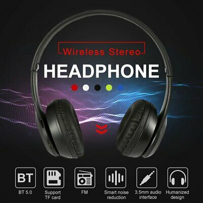 Bluetooth Wireless Stereo Headphones Headset Over Ear FM For IPhone Samsung Sony • 10.49£