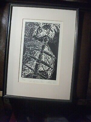 $ CDN60.04 • Buy Allan Paris Linocut , Tayside   As The Crow Flies   Limited Numbered Signed