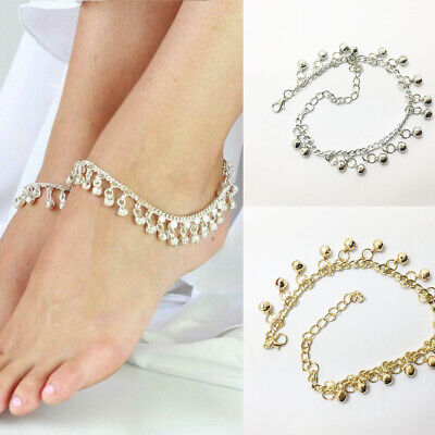 £2.11 • Buy Silver Gold Gypsy Indian Bell Charm Ankle Bracelet Anklet Foot Chain Belly Dance
