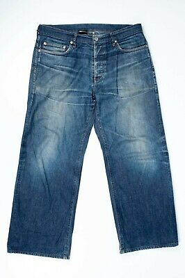 $119 • Buy Genuine Dior Homme Blue Selvage Men Jeans Loose Fit Made In Japan Size W34
