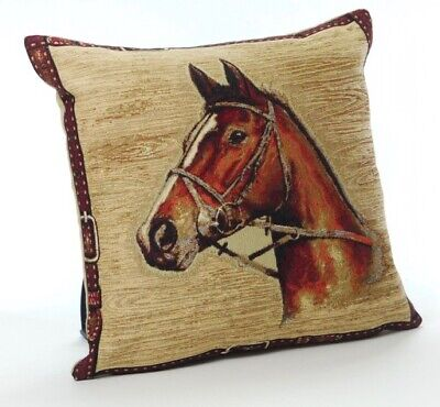 £8.99 • Buy Country Animals Horse  Tapestry Cushion Covers