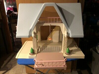 $110 • Buy Vintage Little Tikes Blue Roof Dollhouse With Family + Accessories
