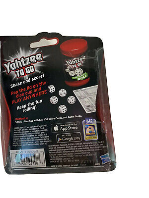 AU16.44 • Buy Hasbro Yahtzee Travel Game New 2 Players Dice Game Young Adults/Adult