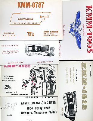 $ CDN3.79 • Buy Vintage Lot Of 6 Qsl Cb Citizen Band Radio Cards From Newport Tennessee
