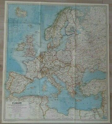 National Geographic Map Of Europe. (June, 1969). • 7£