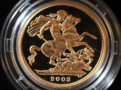£650 • Buy 2003 St George And The Dragon Gold Proof Full Sovereign Coin Box Coa U75
