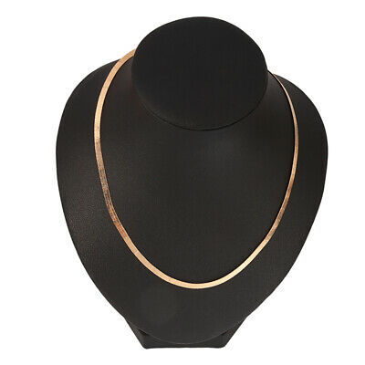 £2.21 • Buy Necklace Men Women Flat Snake Chain Gold Silver Collarbone Chain Adjustable Fine