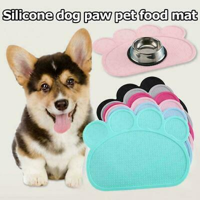 PAW Pet Puppy Silicone Feeding Food Mat Dog Cat Non Slip Bowl Placemat UK 2020 • 6.99£