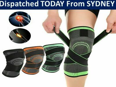 AU8.31 • Buy Knee Support Brace Compression Sleeve Arthritis Pain Relief Running Gym Sports