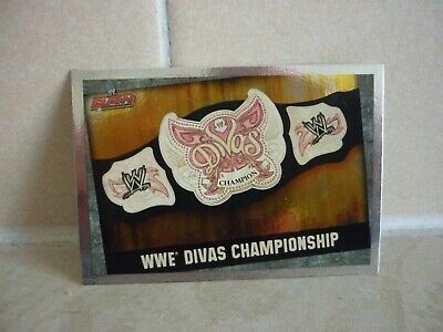 WWE Trading Card Divas Championship. ( Raw Title Card ) Slam Attax Evolution. • 0.99£