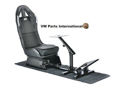 Car Gaming Racing Simulator Frame Chair Bucket Seat Frame Black Silver PS5 Xbox • 294£