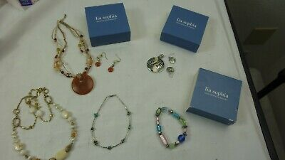 $ CDN50.21 • Buy Lia Sophia  Jewelery Lot Of 5  Necklaces  With Earrings, Bracelets,   Very Nice