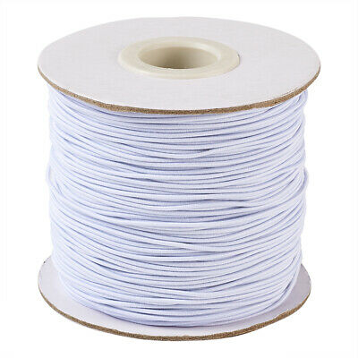 $ CDN14.74 • Buy 1 Roll White Nylon Elastic Cords Stretch Threads Beading Crafting String 1~2mm