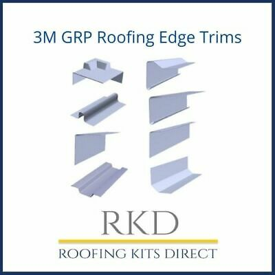 GRP Fibreglass Roofing Edge Trims - 3 TRIMS MINIMUM ORDER • 19£