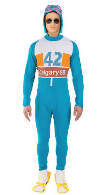 Mens Eddie The Eagle Costume 80s Celebrity Sport Olympic Skier Fancy Dress • 26.99£