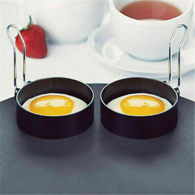 $2.27 • Buy Non Stick Metal Egg Ring Frying Perfect Circle Round Fried/Poached Mould+Handle