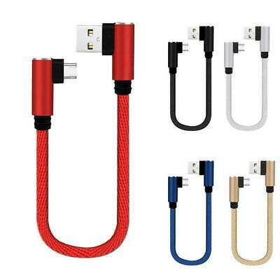 AU4.29 • Buy 25cm Short Braided Micro USB/Type C Cable Fast Charging Cord For IPhone Android