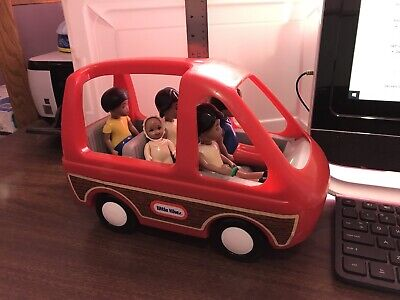 $85 • Buy Vintage Little Tikes Dollhouse African American Family People Mom Dad Baby Kids